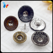 design hole cap jean tack button for men jeans