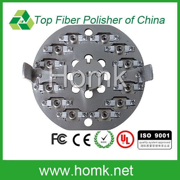 polishing jig APPEX OFFET is within 30,high stability FC/APC 12 connector fiber polishing jig
