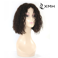 130% Density Indian Lace Front Wig 12 inch Black Hair