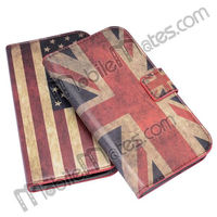 UK/US Flag Fancy Case Cocer, Wallet Stand Flip Leather Case for Samsung Galaxy Grand Duos i9082 i9080 With Card Slots
