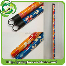 hot sale pvc flower coated wooden broom handle/mop stick/broom pole