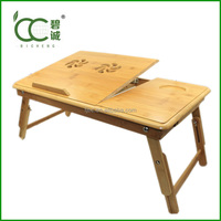 Bamboo Adjustable Computer Desk / Laptop Stand