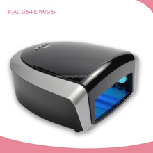36w 66w black two hand uv nail with tube ,uv gel nail curing lamp light dryer, led nail lamp