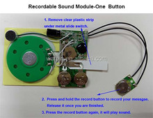 Music card inserts with 10sec recordable