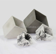 Artificial Cutting angle Cube cement orchid mini flower pot from taobao