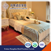 Antique Appearance commercial furniture Hotel apartment bedroom furniture for sale JD-KF-054