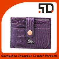 Fashion Design Top Quality Real Leather Cheap Business Card Holder