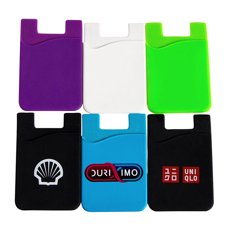 Promote silicone smart wallet mobile phone credit card holder