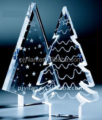 elegant glass crystal christmas tree decoration