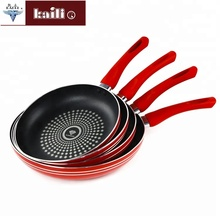Multifunction Red Handle Aluminum Frying Pan set For Home Cooking non-stick Frying Pan