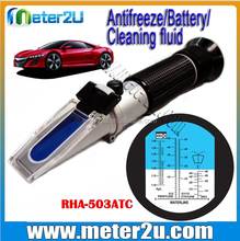 Hand held LED lighted antifreeze coolant Glycol antifreeze test strips refractometer