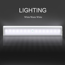 LED IR Infrared Motion Detector Wireless Sensor Lighting LED Wall Lights Closet Night Battery Lamp Cabinet Wardrobe Light