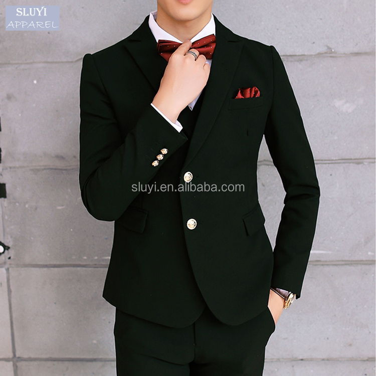 mens suit fashion Wedding Party Prom Event good Slim Fit Solid black Suit single Breasted long sleeve dress suits for men
