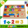 wooden math education toy