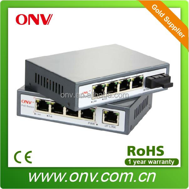 5-PORT 10/100M SWITCH POE WITH 4-PORT POE AND 1-PORT FIBER