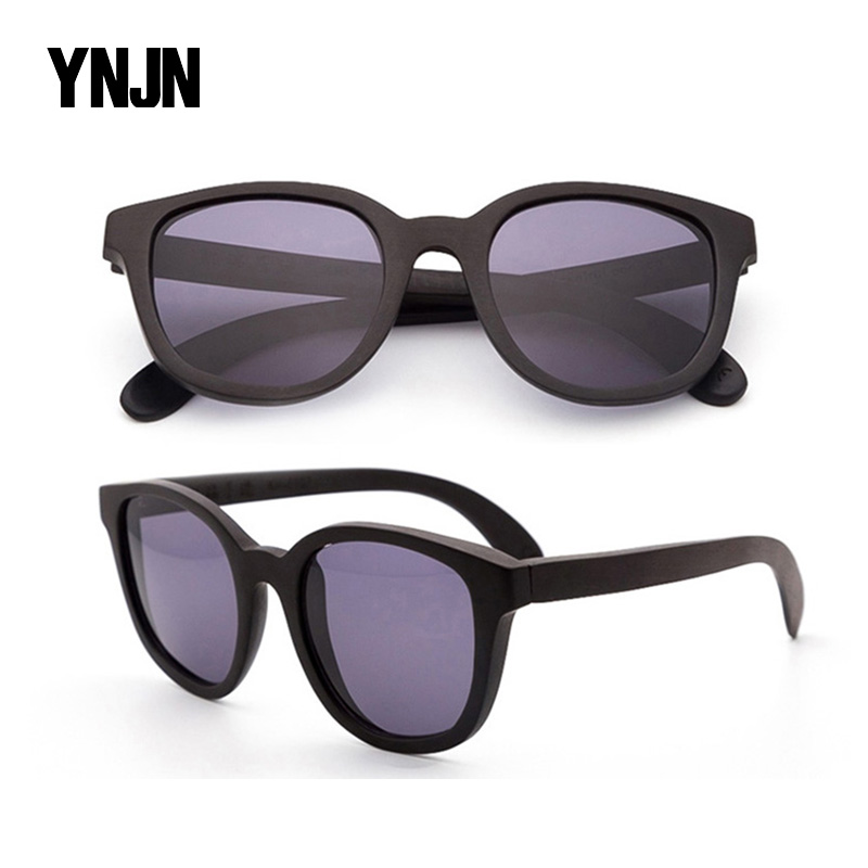 Wholesale fashion retro round uv400 no logo custom brand wooden sunglasses