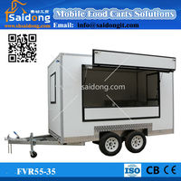 Fiberglass mobile Kitchen van, Catering Food Trailer camper van,food concession van