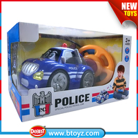 Cartoon Design 2 CH RC Police Car Toy for Children