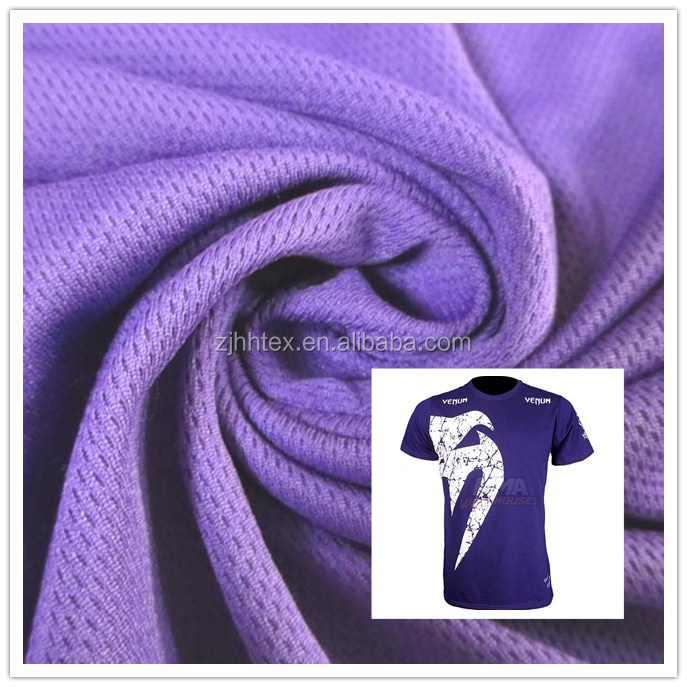 Double polyester bird eye mesh football jersey fabric for sports wear, cheap wholesale fabric from china