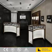 Curved jewellery store display cabinet furniture for jewellery showroom design