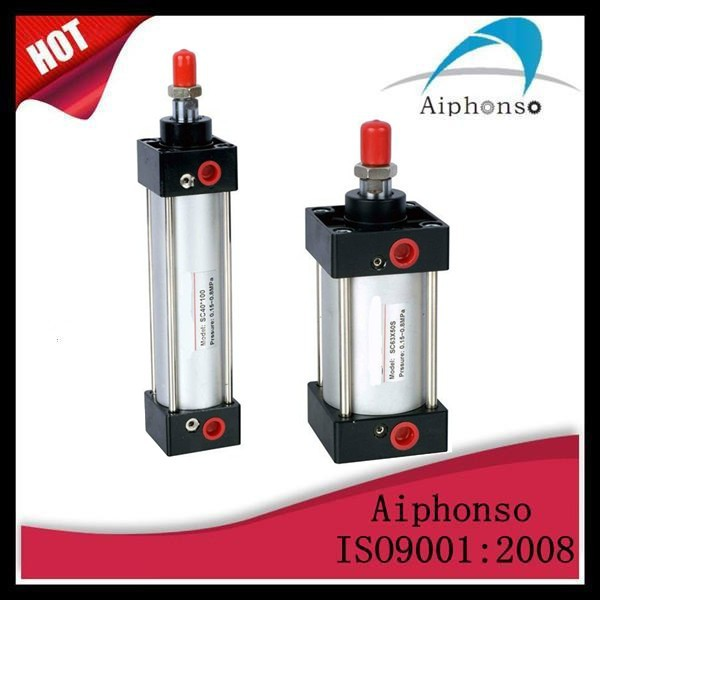 China Airtac SC aluminium pneumatic cylinder, compact air cylinder,hot sell cheap price