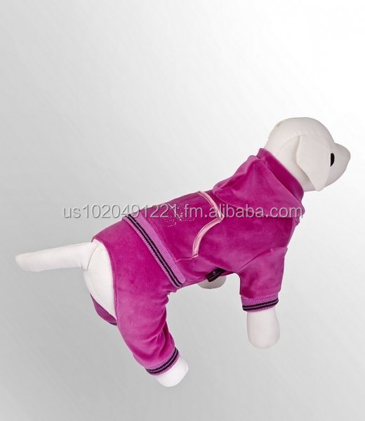 Dog Clothes | Pet Apparel | High Quality - made in Europe | Dog Velour Sweatshirt | Dog Clothing | Fashionable dog pet Coats