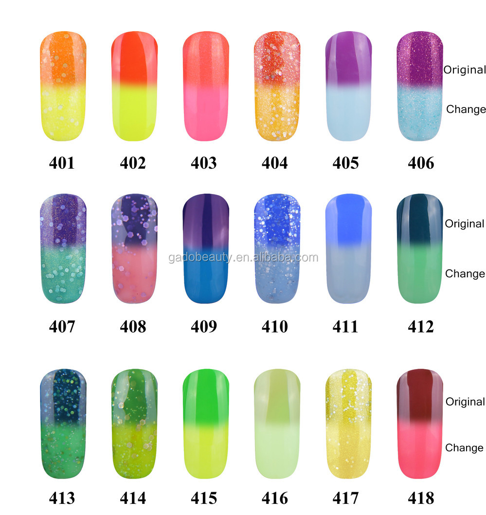 2016 Fashion 48 Colors temperature change gel, Colorful uv Gel