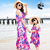 mother daughter matching dress chiffon beach belt strapless skirt