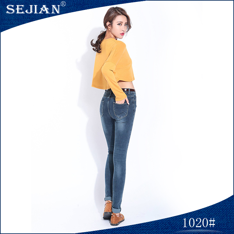 2017 Ankle-Length Style Wholesale Blue Jeans For Women