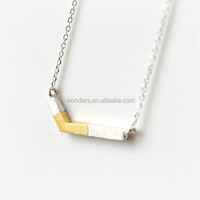 Yiwu Factories Low Minimum Order Quantity Silver Gold Plated Charm Necklace Stainless Steel Mother Jewelry