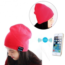 Warm Fashion Music Wireless BT Knitted Beanie Hat Headphones for Travelling and Christmas Gifts