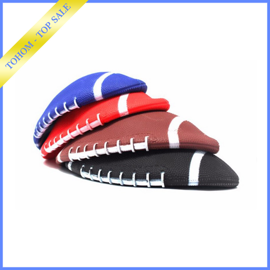Cheap promotional sports football american funny plain rugby ball for wholesale
