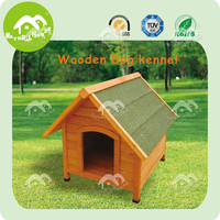Asphalt roof fir wood dog kennel,dog cages cheap