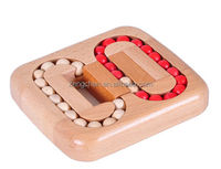 3D Brain Teaser Wooden Ball Maze Puzzles Board Game Toy for Kids And Adults
