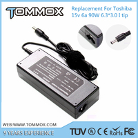15V 6A 90W 6.3*3.0 laptop adapter PA2521U-2AC3 for TOSHIBA M35-S456, M35-S3591, M35-S3592 M40, M45