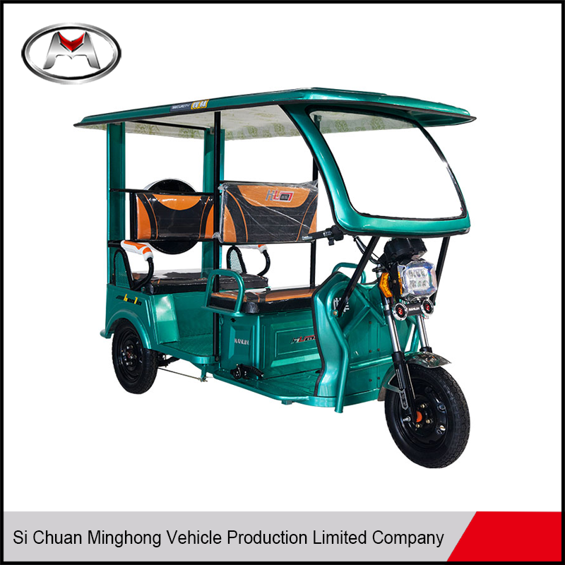 Safe electric bike classic front loading tricycle rickshaw