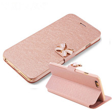 "5 5s Luxury Crystal bow-knot Leather Wallet Card Holder Flip Stand Case Cover For iphone 6/6S 4.7"" 6S/6plus 5.5"" bowknot"