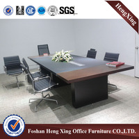 Customized 50mm thickness modern design boardroom meeting table, conference table (HX-FLD013)