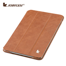 Luxury Jisoncase high quality genuine leather slim cover case for ipad mini 2 leather case tablet