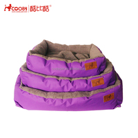 Acceptable Custom soft polyester plush best dog bed for large dog