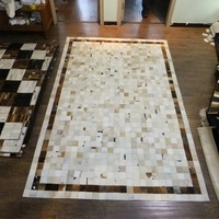 Whoesale brazil natural ox hair cowhide patchwork rug