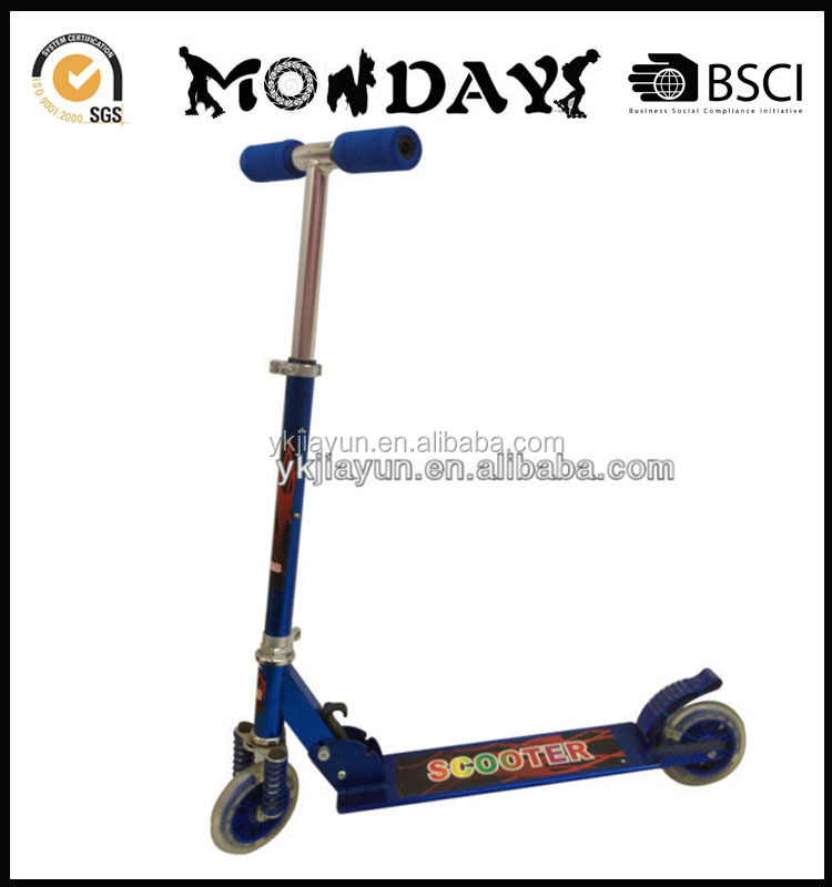 2014 hot seller quality adjustable and folding kick scooter,big pu wheel kick scooter