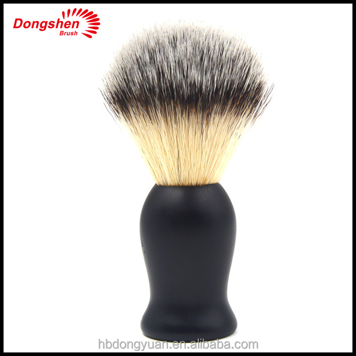 synthetic shaving brush,rubber handle, imitation badger