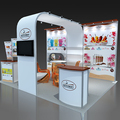 Detian offer portable booth stand for trade show, easy carry fabric trade show stand