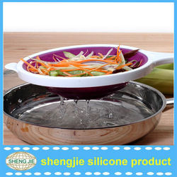 Best for Pasta, Fruit and Vegetables BPA Free Silicone Multi-Purpose Collapsible Colander