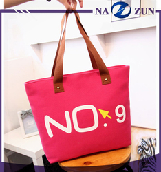 Canvas Material Durable Foldable Lady Handbag Cheap Popular Selling Eco Friendly Folding Shopping Bags