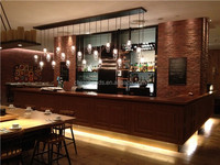 Fashion Wooden Restaurant Bar Counter Design