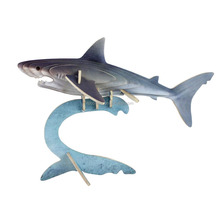 dolphin coated colorful paper 3D wooden puzzle toy