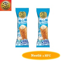 HFC 2435 cereal rice roll cracker grain snack with yoghourt and icecream flavor