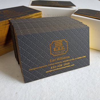Luxury wholesale custom name gold foil stamping business card printing